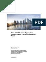 Compatibility Matrix ASR920