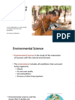 1. Introduction to Environmental Science