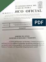 Por fin Gobierno de Puebla publica en el Periódico Oficial medidas de seguridad que deben cumplir los transportistas y comenzaron a aplicar desde el pasado 26 de octubre