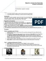 Migration and the First World War Lesson Plan 0