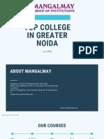 Top College in Greater Noida