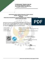 SK Penetapan Penghentian Kegiatan Pemanfaatan Sumber Radiasi Pengion