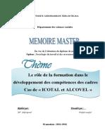 Le rôle de la formation dans le développement des compétences des cadres  cas de « ICOTAL et ALCOVEL ».pdf