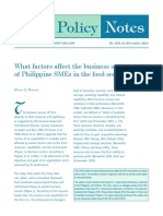 What factors affect the business success of Philippine SMEs in the food sector - borazon 2015.pdf