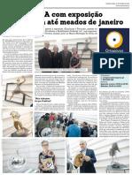 Notícia da 21.ª Exposição a Galeria d'Arte Ortopóvoa publicada no jornal Mais Semanário