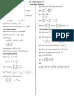 IX - Math