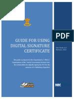 Guide using Digital Signature