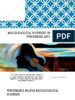 Work Related Disorders in Musicians