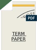 Term Paper of Sanskriti