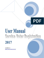User Manual for Service Voters Registration