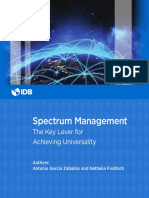 Spectrum Management the Key Lever for Achieving Universality (1)