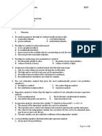 Cost Accounting prestest 2