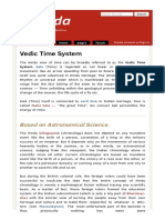 Vedic Time System