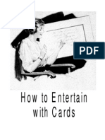 How to Entertain With Cards