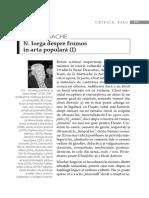 N. Iorga Despre Frumos in Arta Populara (I) (1)