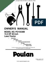 Manual de usuario Poulan Pro 15.5