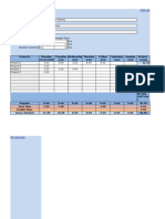 Overtime Calculation Timesheet Template
