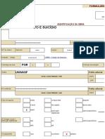 Formulário de solicitacao do ISBN - Livro Comportamento e suicídio