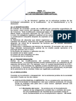Tema 17 Disolución de Las Sociedades Mercantiles