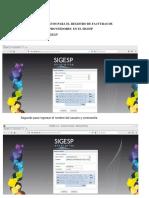 Procedimientos Para El Registro de Facturas de Proveedores en El Sigesp