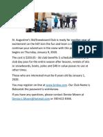 Ski Club Flyer