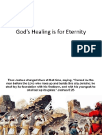 God's Healing is For Eternity