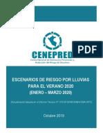 Escenario de Lluvias Para El Verano 2020 - Octubre 2019