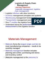 Marketing Logictics and SCM