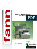 EP(Extreme Pressure) Lubricity Tester Model 212 Instruction Manual