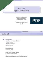 Mat5101 Am Lecturenotes
