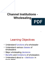 Channels - Whole Selling
