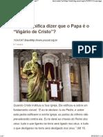 Vigário de Cristo