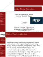 NUMBER THEORY AND APPLICATIONS