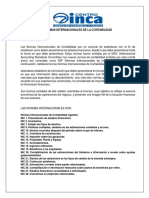 Normas Internacionales de La Contabilidad