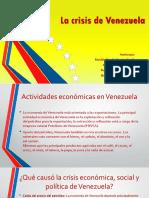 La crisis económica  de Venezuela.pptx