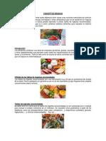 Conceptos Basicos de Nutricion - Para Mapa Conceptual - Punto 6 Act. 3.3