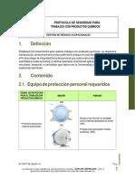 Protocolo de seguridad para trabajos con productos químicos