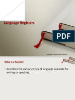 Language Registers Notes