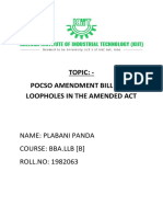Pocso Amendment Bill 2019
