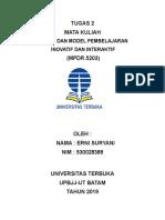Tugas 2 Erni Suryani 530028389 Mpdr.5204 Desain Dan Model Pembelajaran Inovatif Dan Interaktif