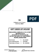 Gift Deed-Through Attorney