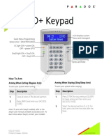 User Manual Paradox SP Series K32LCD Keypad Alarm