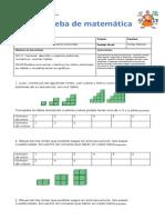 Prueba de Matematica Datos y Probabilidades