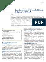 Principes de Mesure de La SensibilitĂ_ Aux Antibiotiques. CMI_CMB