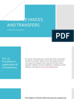 A) Conveyances and Transfers