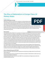 The Rise of Nationalism in Europe Class 10 Notes_ - LearnFatafat