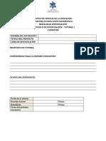 Protocolo i Semestre - Formato Tutoria