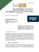 INFORME DE PONENCIA PARA PRIMER DEBATE AL PROYECTO DE ACTO LEGISLATIVO NÚMERO 074 DE 2019 CÁMARA