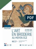"""Exposition """"Art en Broderie Au Moyen Âge"""" au Musée de Cluny, Paris"""