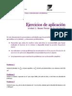 2) Ejercicios de Aplicación Unidad 2 (2017)
